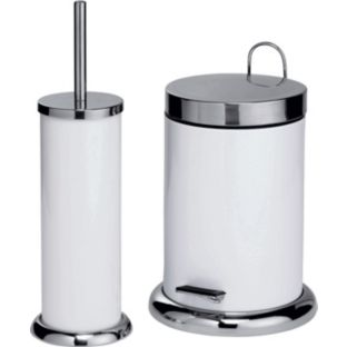 Bathroom accessories from england for Bathroom bin and brush set