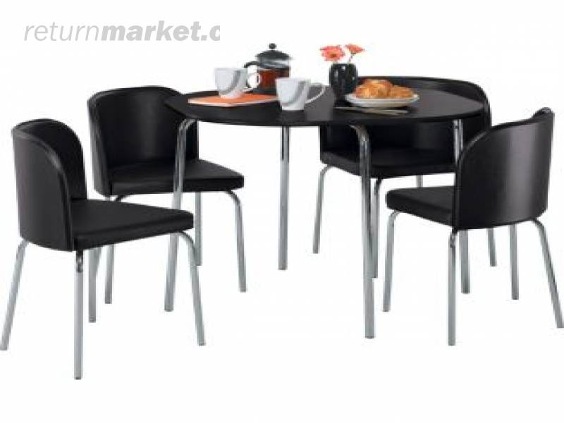 Mixed products from England : 1383166453hygenaamparoblackdiningtableand4blackchairs from www.returnmarket.com size 800 x 600 jpeg 31kB