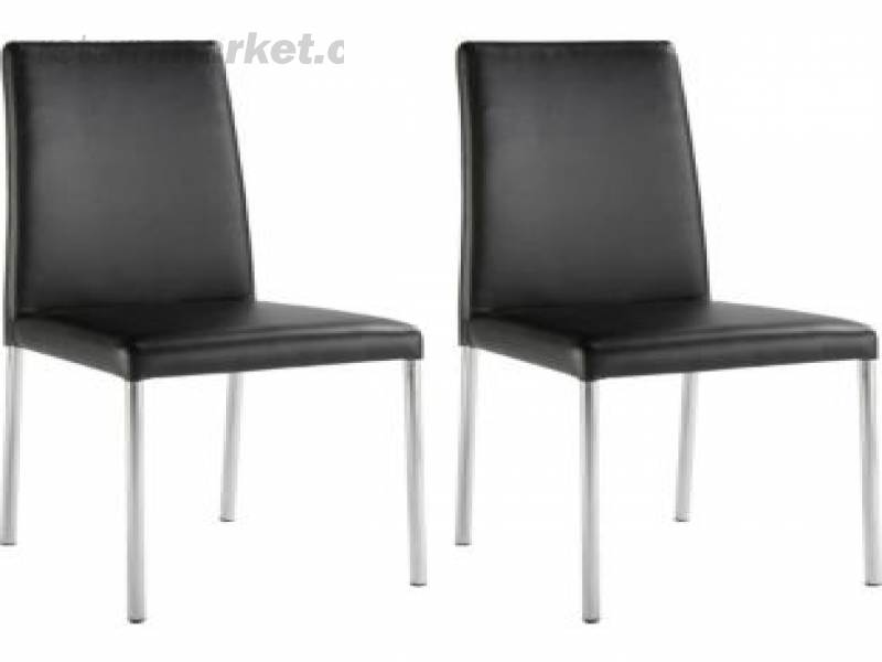 Hygena Naples Pair Dining Chairs Black Bedroom Lounge Furnitures Sa