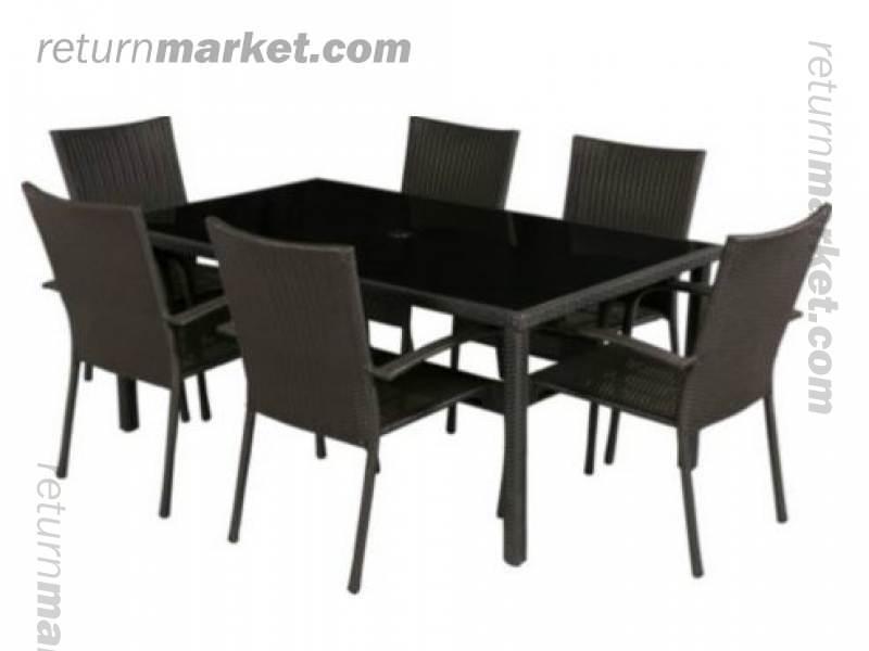 ... 6 Seater Patio Furniture Set Black Jpg Arrow Pent Metal Garden. Outdoor  And Seasonal S Sa9659