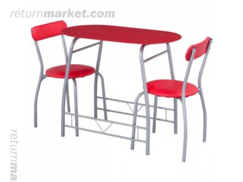 Palletised furnitures sa10011 : 1406491430miamiredglassdiningtableand2chairsbreakfastset from www.returnmarket.com size 800 x 600 jpeg 29kB