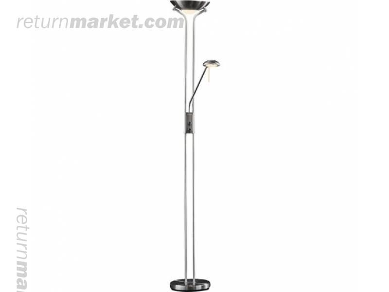 Lighting customer returns sa18121 for Torchiere uplighter floor lamp brushed chrome