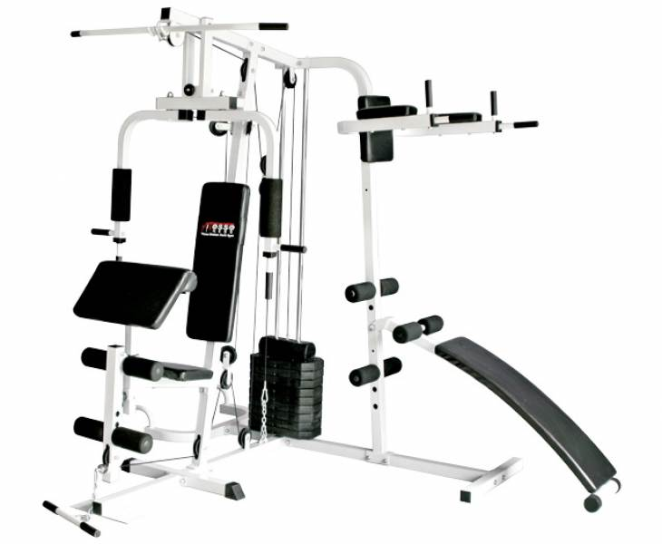 A great number of fitness machines