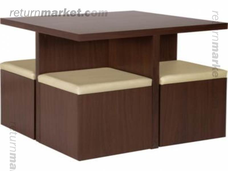 Space Saver Dining Table Mahogany Dropleaf Spacesaver