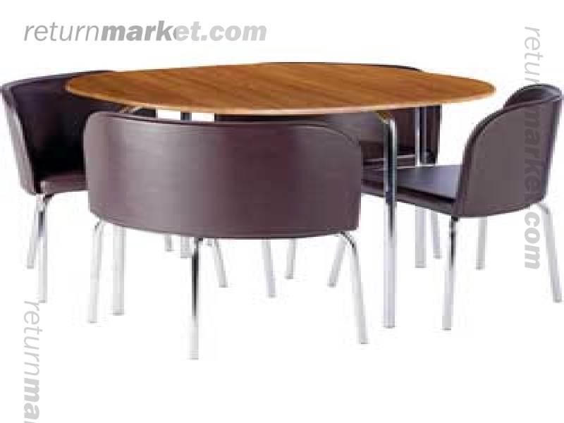 HYGENA AMPARO dining sets in high quality sa7167 : orig800x6001391201371hygenaamparooaktableand4chocolatechairsreturnmarketasnew from www.returnmarket.com size 800 x 600 jpeg 29kB